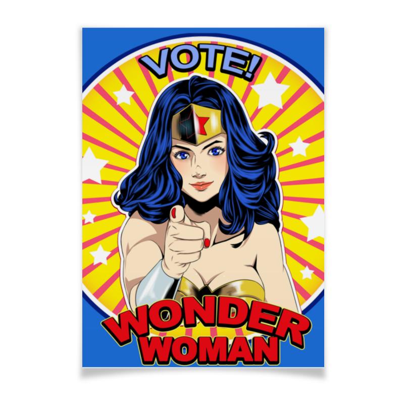 Printio Плакат A3(29.7×42) Wonder woman printio плакат a2 42×59 wonder woman