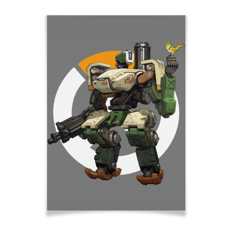 Printio Плакат A3(29.7×42) Overwatch bastion / овервотч бастион