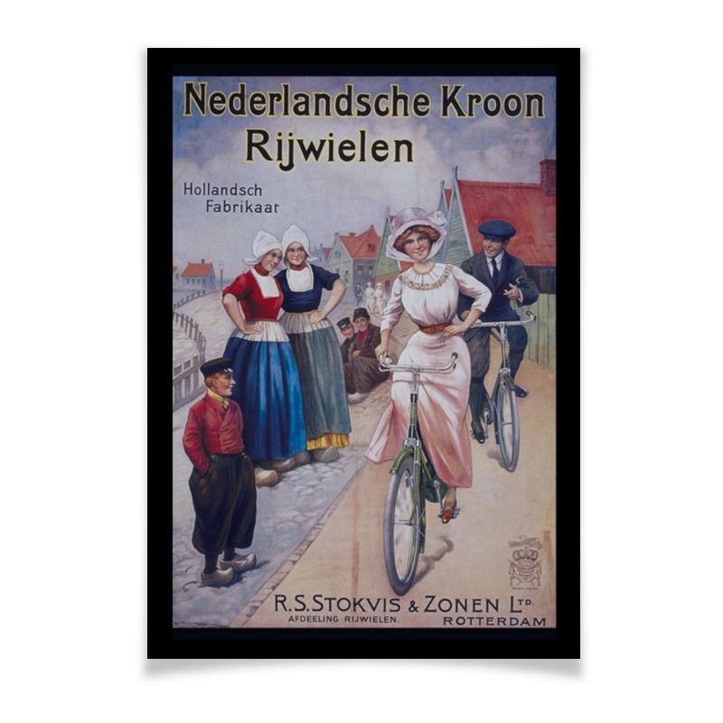 Printio Плакат A3(29.7×42) Велосипедисты ретро printio сумка ретро плакат