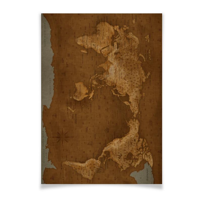 Printio Плакат A3(29.7×42) Карта мира