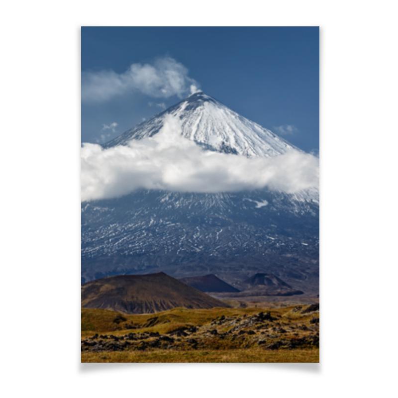 Printio Плакат A3(29.7×42) Камчатка, осенний пейзаж, извержение вулкана