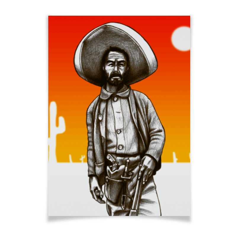 Printio Плакат A3(29.7×42) Mexican outlaw