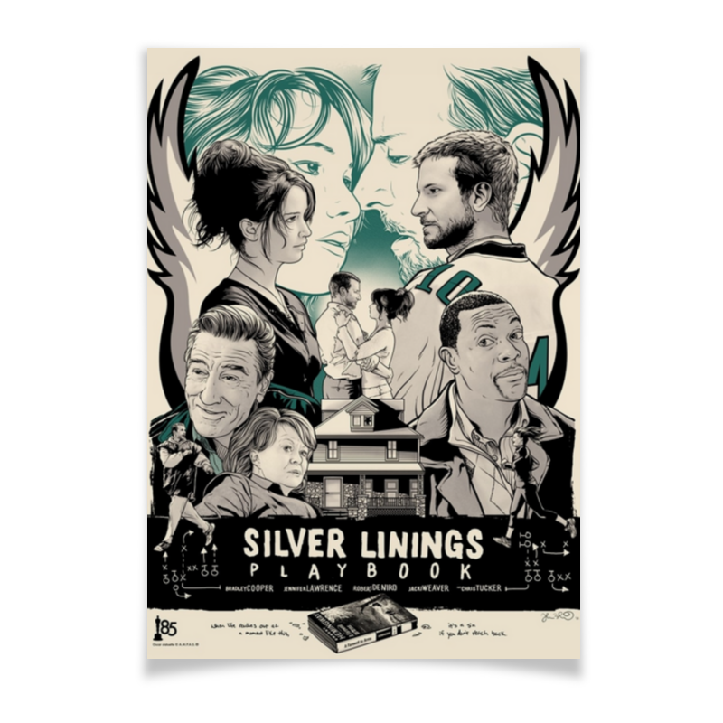Printio Плакат A3(29.7×42) Мой парень – псих / silver linings playbook
