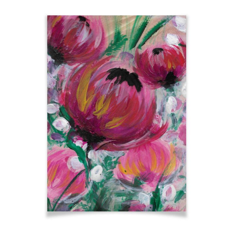 Printio Плакат A3(29.7×42) Полевые цветы