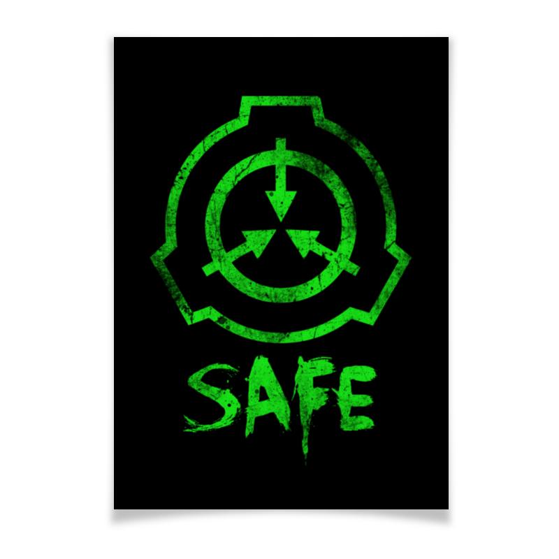 Printio Плакат A3(29.7×42) Scp, safe printio плакат a3 29 7×42 scp euclid