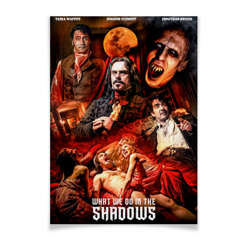 Printio Плакат A2(42×59) Реальные упыри / what we do in the shadows