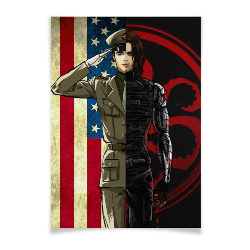 Printio Плакат A2(42×59) Плакат а2 зимний солдат