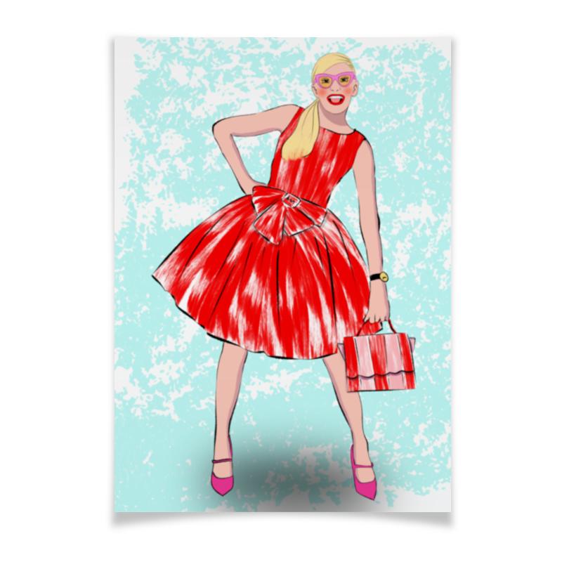 Printio Плакат A2(42×59) Девушка в красном платье