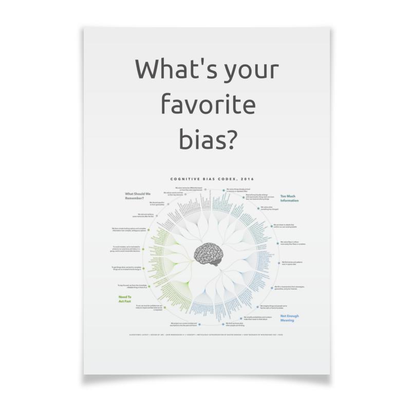 Printio Плакат A2(42×59) Cognitive bias codex, 2016