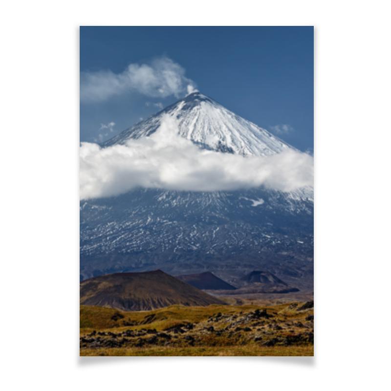 Printio Плакат A2(42×59) Камчатка, осенний пейзаж, извержение вулкана