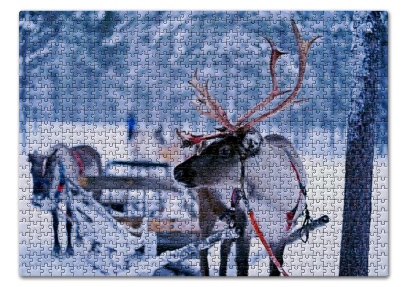 Printio Пазл 43.5×31.4 см (408 элементов) Новогоднее такси