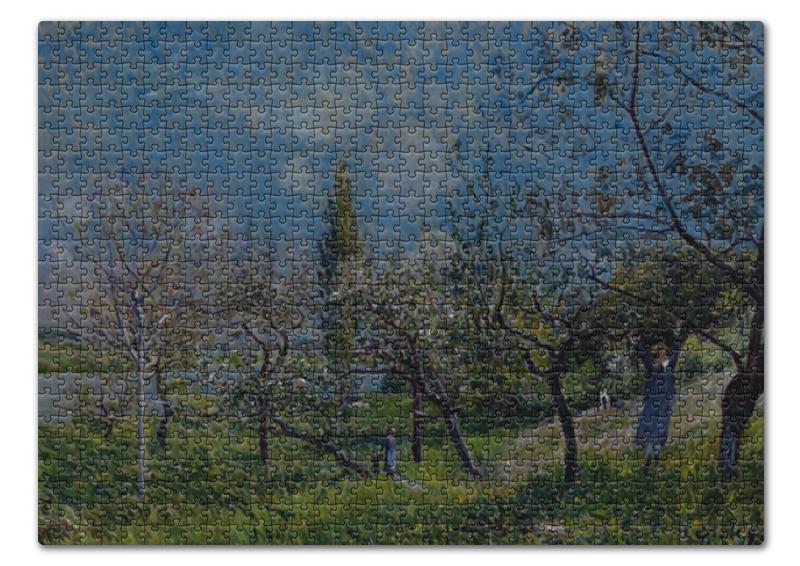 Printio Пазл 43.5×31.4 см (408 элементов) Фруктовый сад весной (альфред сислей) printio тетрадь на скрепке фруктовый сад весной альфред сислей