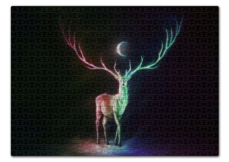 david w maurer kentucky moonshine Printio Пазл 43.5×31.4 см (408 элементов) Moonshine deer