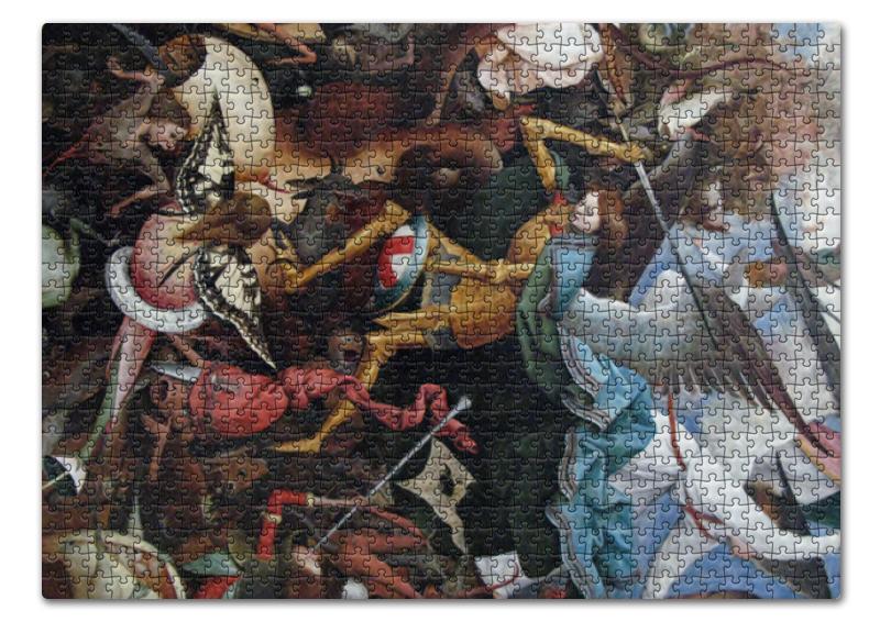 Фото - Printio Пазл 43.5×31.4 см (408 элементов) Архангел михаил (картина брейгеля) printio пазл магнитный 18×27 см 126 элементов архангел михаил картина брейгеля