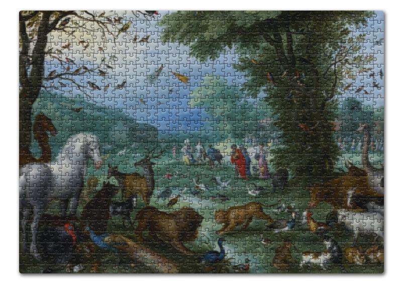 Printio Пазл 43.5×31.4 см (408 элементов) Вступление животных в ноев ковчег (брейгель) printio пазл 43 5×31 4 см 408 элементов охотники на снегу питер брейгель старший