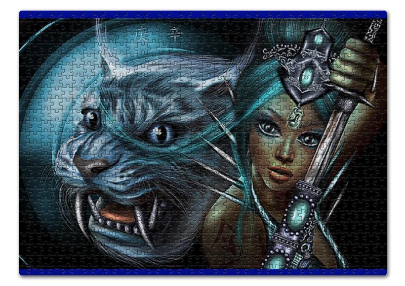 Printio Пазл 43.5×31.4 см (408 элементов) Воители арты. девушки