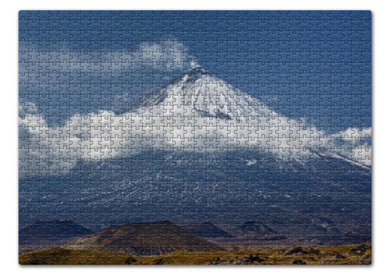 Printio Пазл 43.5×31.4 см (408 элементов) Камчатка, осенний пейзаж, извержение вулкана