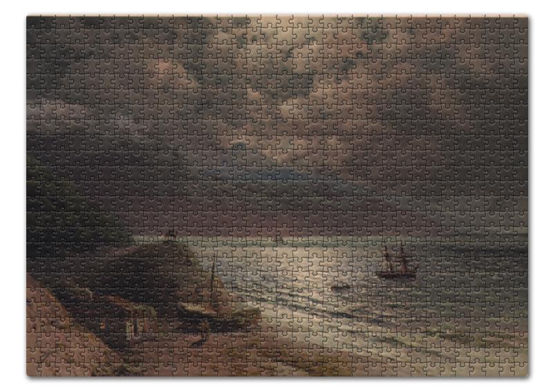 Printio Пазл 43.5×31.4 см (408 элементов) Лунная ночь на берегу черного моря, на кавказе