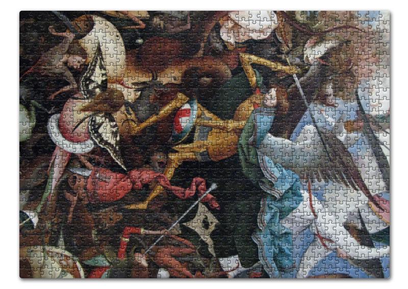 Printio Пазл 43.5×31.4 см (408 элементов) Падение мятежных ангелов (питер брейгель) printio пазл 43 5×31 4 см 408 элементов охотники на снегу питер брейгель старший