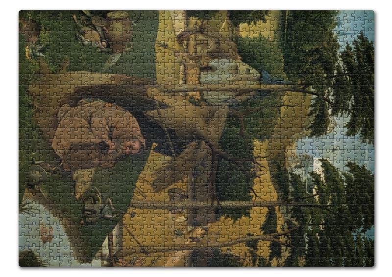 Фото - Printio Пазл 43.5×31.4 см (408 элементов) Искушение святого антония (картина босха) printio пазл магнитный 18×27 см 126 элементов искушение святого антония картина босха