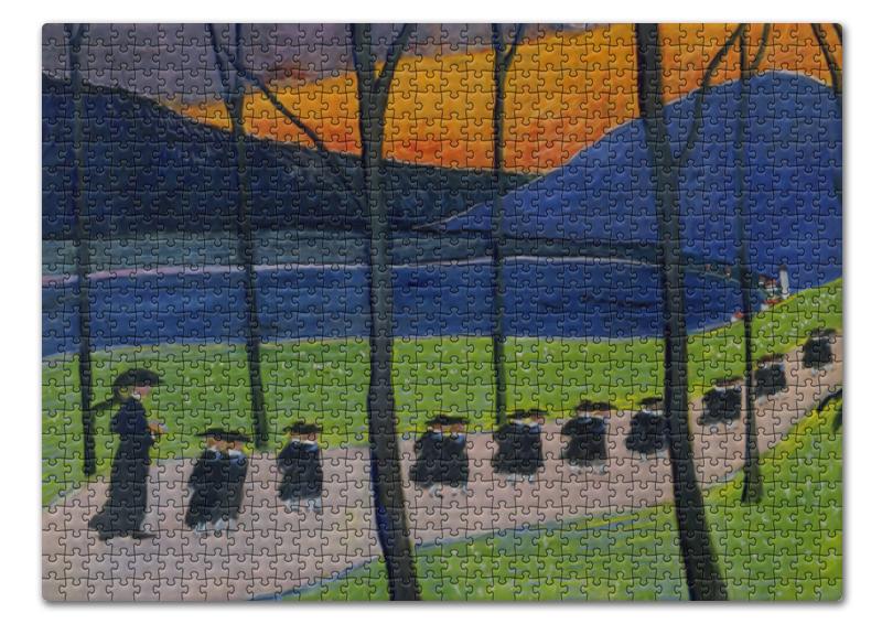 Printio Пазл 43.5×31.4 см (408 элементов) Осень. школа (марианна верёвкина)