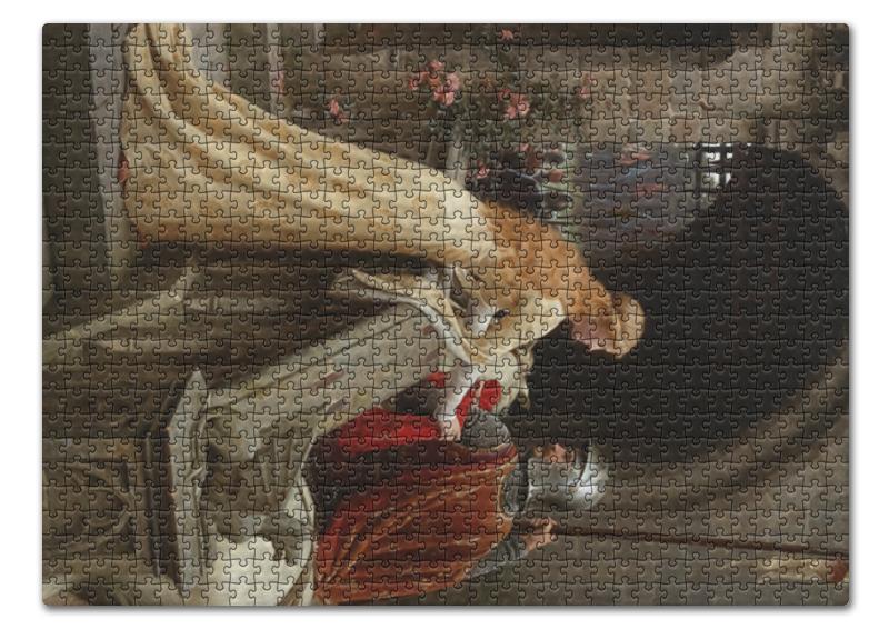 Printio Пазл 43.5×31.4 см (408 элементов) Бог в помощь (эдмунд блэр лейтон)
