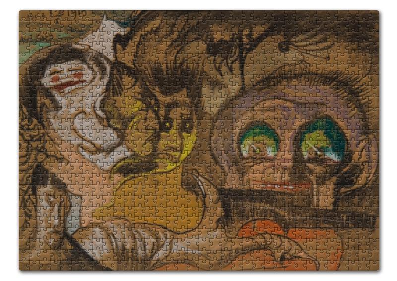 Printio Пазл 43.5×31.4 см (408 элементов) Композиция зеленые глаза (станислав виткевич)
