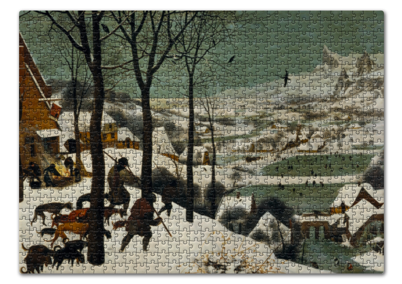 Printio Пазл 43.5×31.4 см (408 элементов) Охотники на снегу (питер брейгель старший) printio пазл 43 5×31 4 см 408 элементов охотники на снегу питер брейгель старший