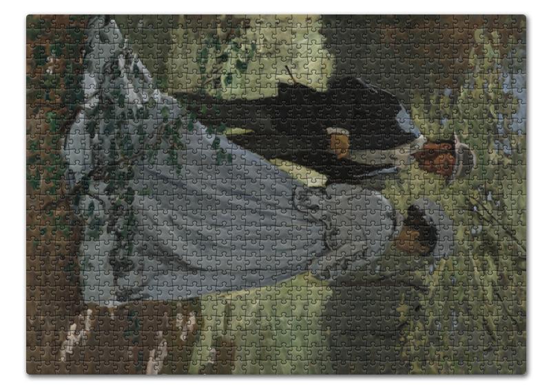 printio камилла в японском кимоно клод моне Printio Пазл 43.5×31.4 см (408 элементов) Базиль и камилла (картина клода моне)
