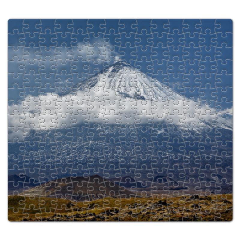 Printio Пазл магнитный 27.4×30.4 см (210 элементов) Камчатка, осенний пейзаж, извержение вулкана
