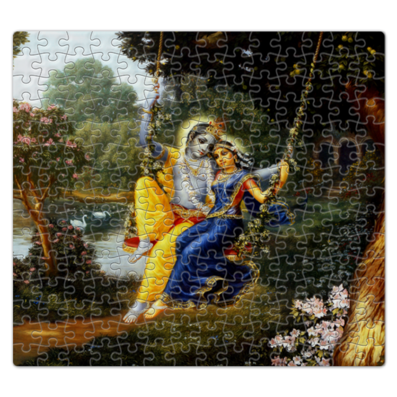Printio Пазл магнитный 27.4×30.4 см (210 элементов) Кришна и радха
