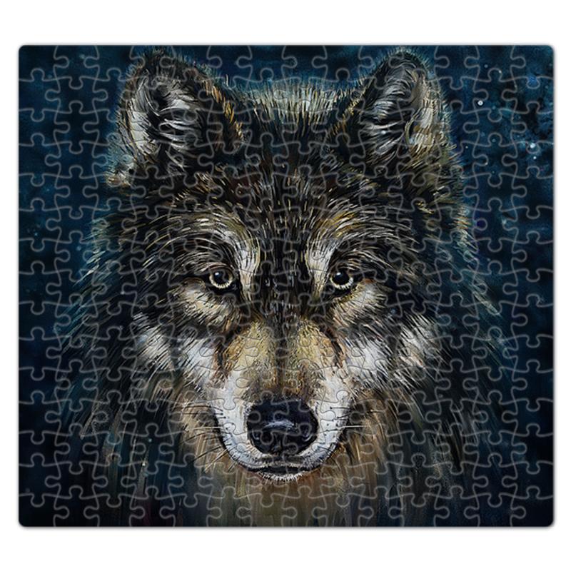 Printio Пазл магнитный 27.4×30.4 см (210 элементов) Волки фэнтези. седой волк printio рюкзак 3d волки фэнтези седой волк