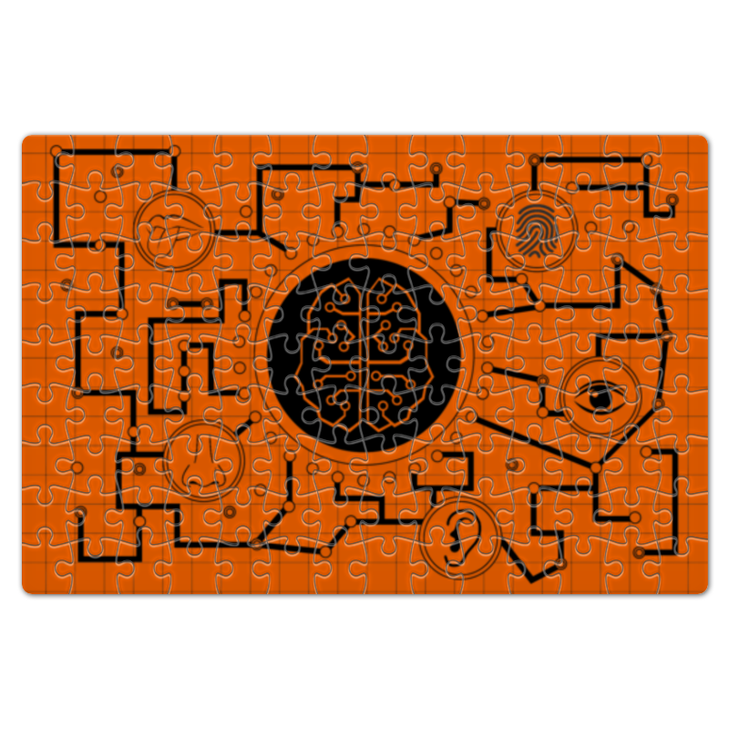 Фото - Printio Пазл магнитный 18×27 см (126 элементов) Мозговая связь printio рюкзак 3d мозговая связь