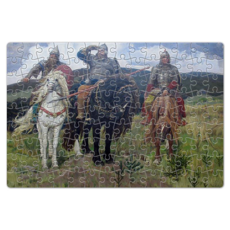 Printio Пазл магнитный 18×27 см (126 элементов) Богатыри (картина васнецова)