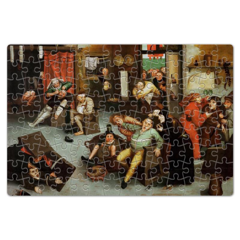 Printio Пазл магнитный 18×27 см (126 элементов) Извлечение камня глупости (брейгель младший) printio пазл 43 5×31 4 см 408 элементов охотники на снегу питер брейгель старший