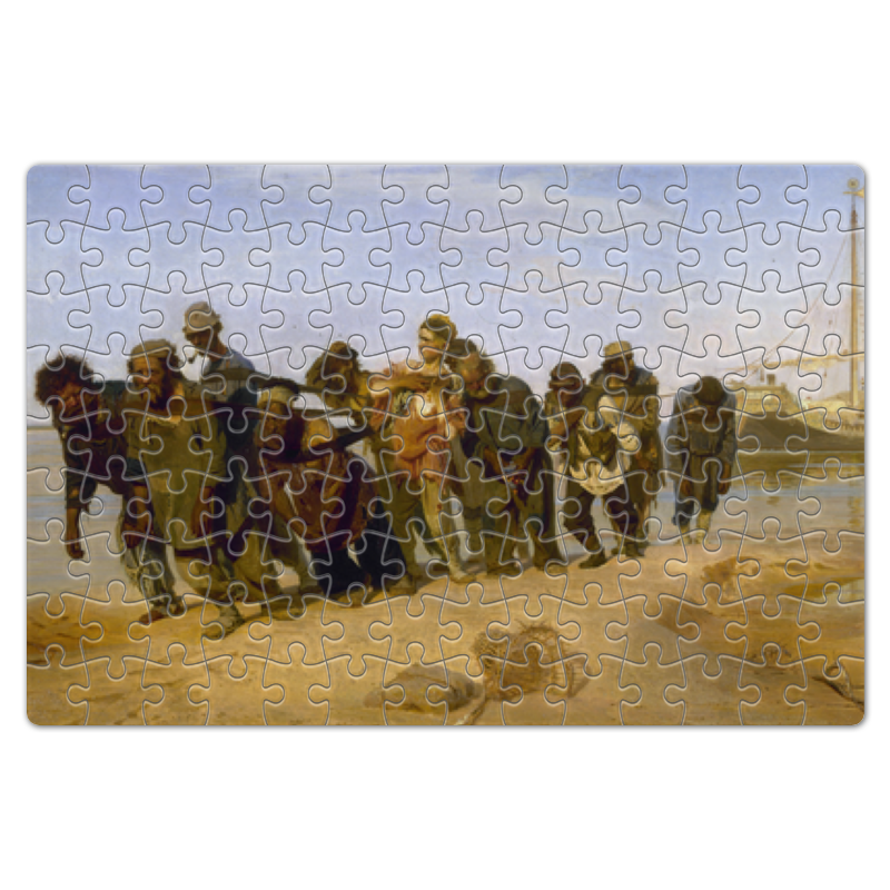 Printio Пазл магнитный 18×27 см (126 элементов) Бурлаки на волге (картина ильи репина)