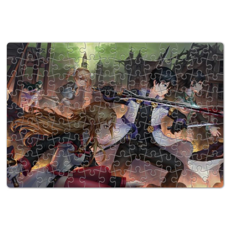 Printio Пазл магнитный 18×27 см (126 элементов) Мастера меча онлайн