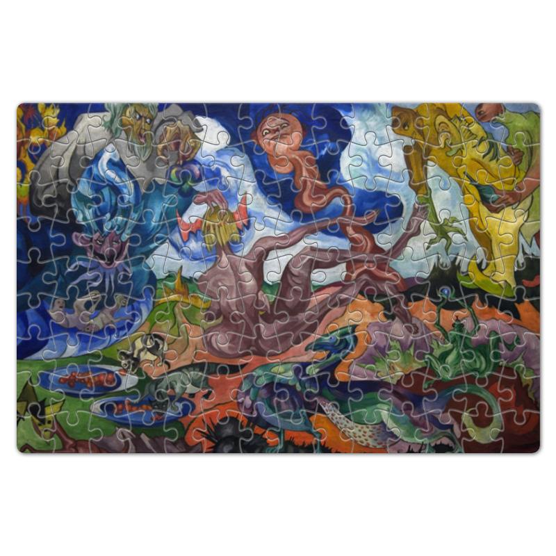 Printio Пазл магнитный 18×27 см (126 элементов) Создание мира (станислав виткевич)