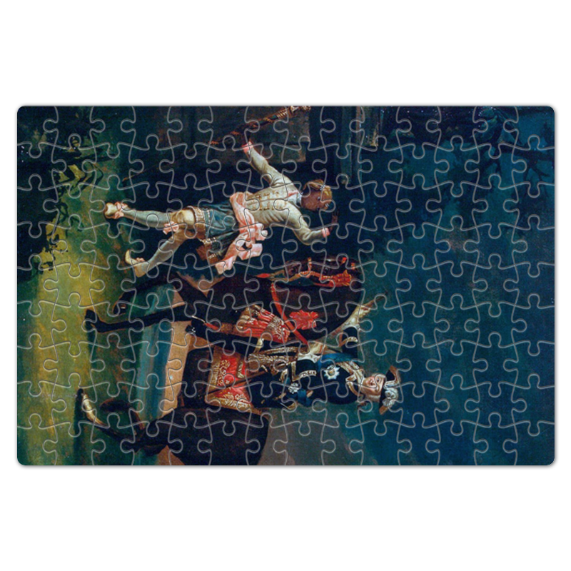 Printio Пазл магнитный 18×27 см (126 элементов) Конный портрет елизаветы петровны с арапчонком