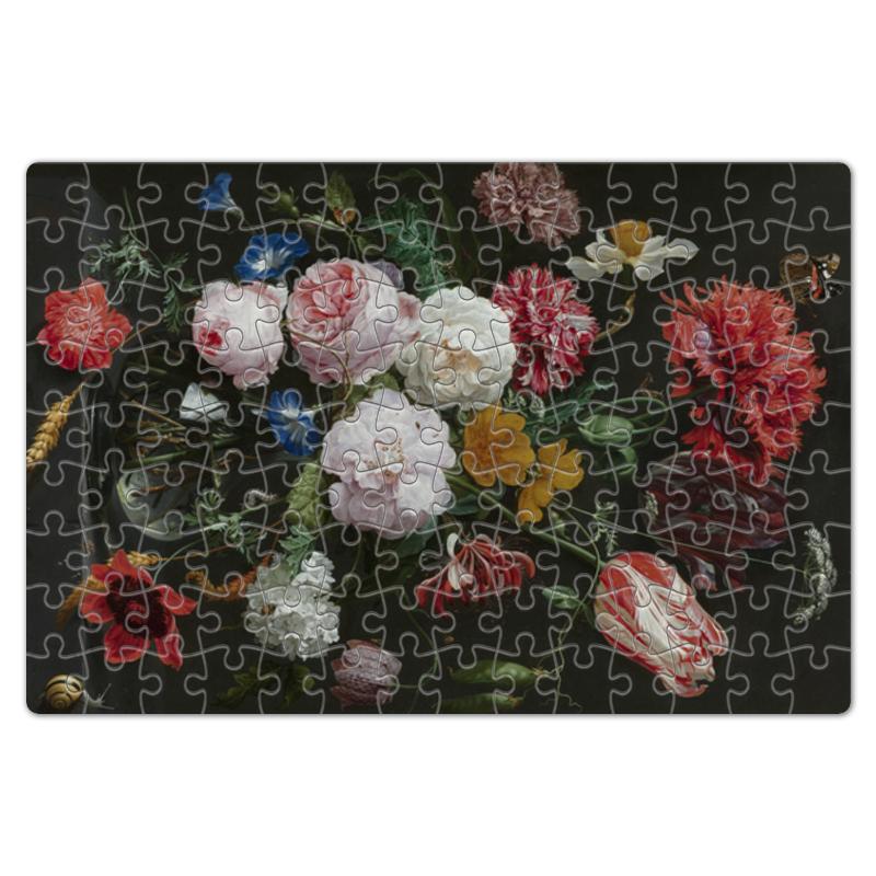 Printio Пазл магнитный 18×27 см (126 элементов) Цветочный букет в стеклянной вазе (ян де хем)