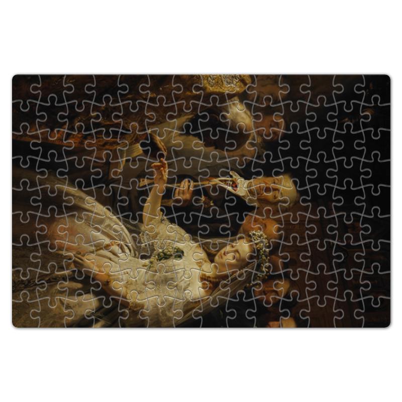 printio блокнот неравный брак картина пукирева Printio Пазл магнитный 18×27 см (126 элементов) Неравный брак (картина пукирева)