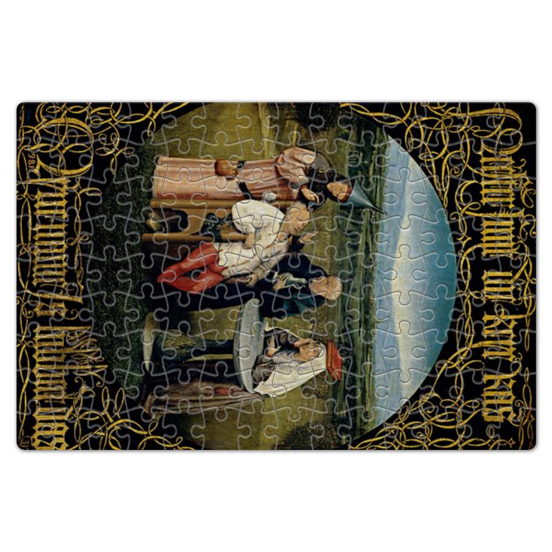 Фото - Printio Пазл магнитный 18×27 см (126 элементов) Извлечение камня глупости (иероним босх) printio пазл магнитный 18×27 см 126 элементов искушение святого антония картина босха