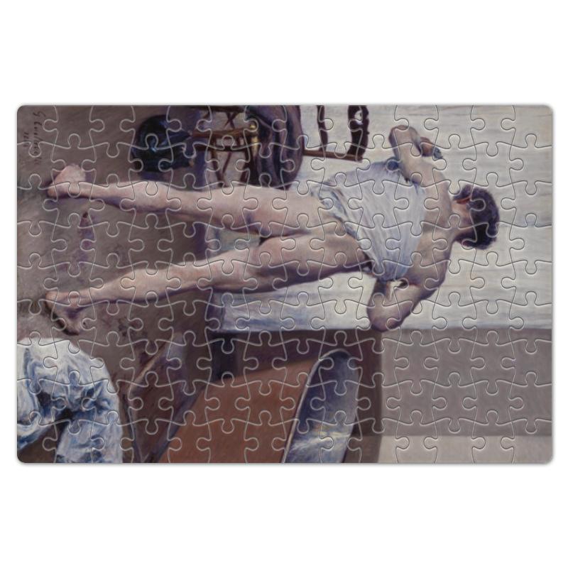 Фото - Printio Пазл магнитный 18×27 см (126 элементов) Мужчина в ванной (картина кайботта) printio пазл магнитный 18×27 см 126 элементов архангел михаил картина брейгеля