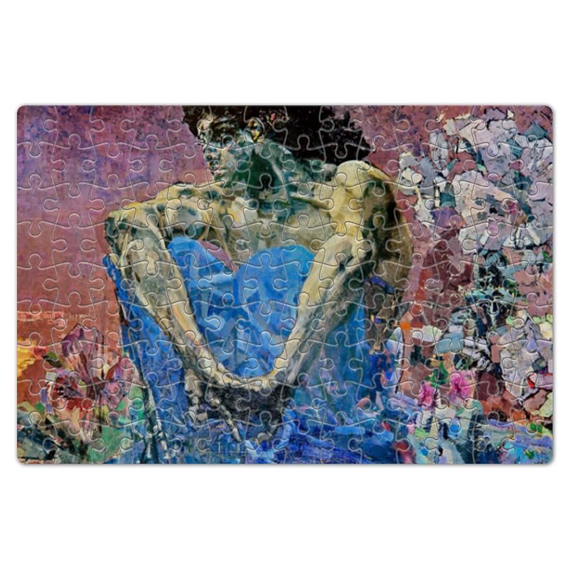 Фото - Printio Пазл магнитный 18×27 см (126 элементов) Демон сидящий (михаил врубель) printio пазл магнитный 18×27 см 126 элементов архангел михаил картина брейгеля