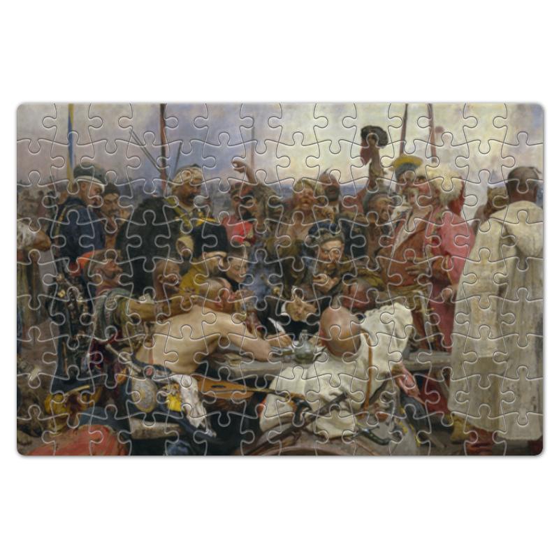 Фото - Printio Пазл магнитный 18×27 см (126 элементов) Запорожцы (картина репина) printio пазл магнитный 18×27 см 126 элементов архангел михаил картина брейгеля