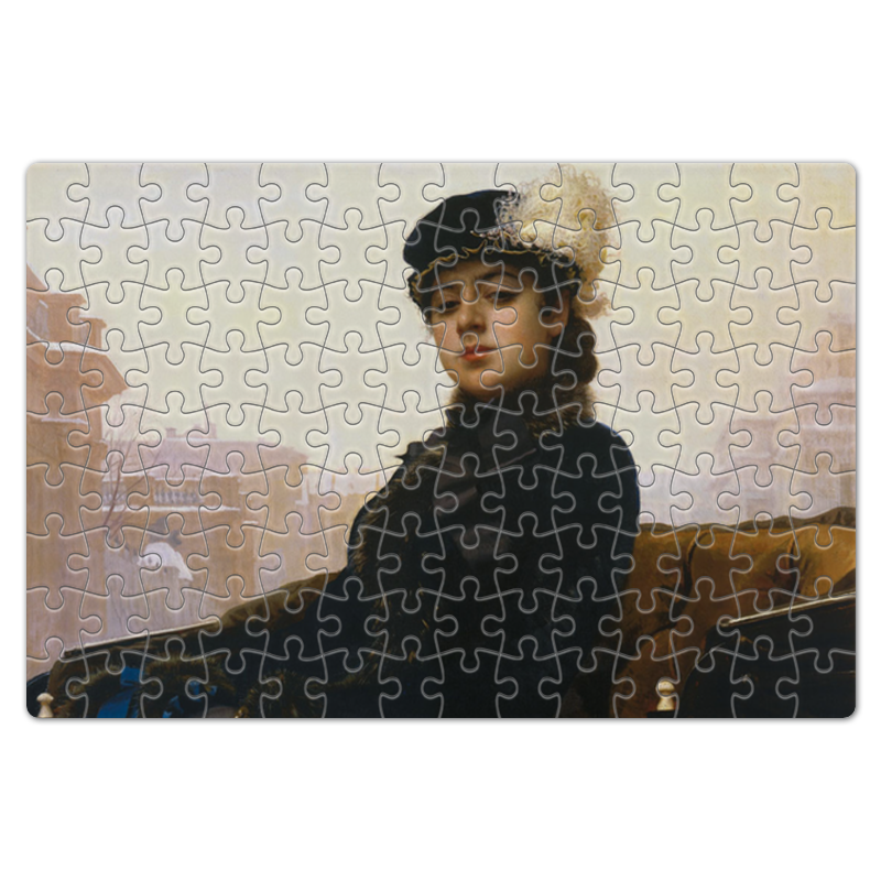 Фото - Printio Пазл магнитный 18×27 см (126 элементов) Неизвестная (картина крамского) printio пазл магнитный 18×27 см 126 элементов архангел михаил картина брейгеля