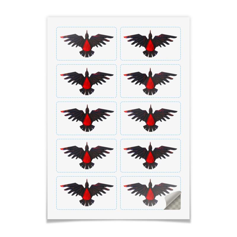 Printio Наклейки прямоугольные 9×5 см Blood ravens