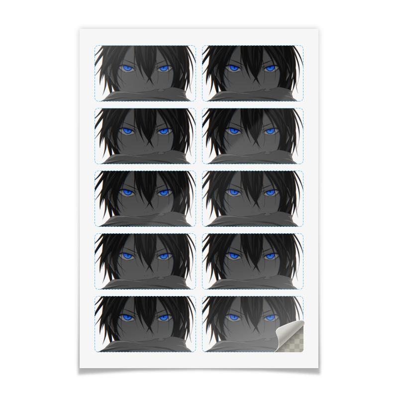 Printio Наклейки прямоугольные 9×5 см Бездомный бог (ято)