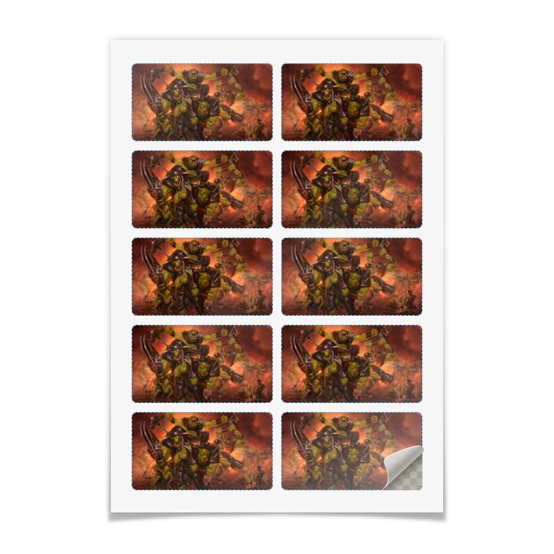 Printio Наклейки прямоугольные 9×5 см Орки (warhammer 40k)