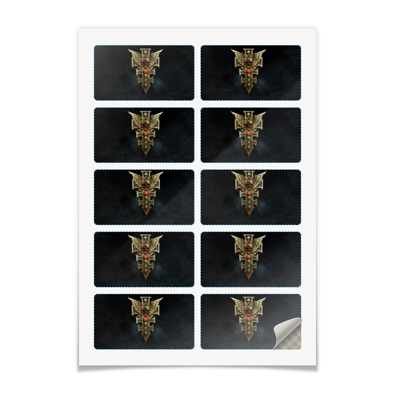 Printio Наклейки прямоугольные 9×5 см Инквизиция